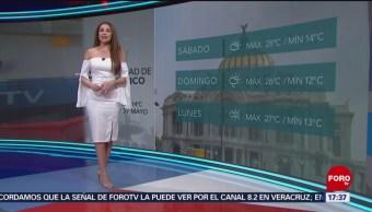 Foto: El clima, con Mayte Carranco del 3 de mayo de 2019