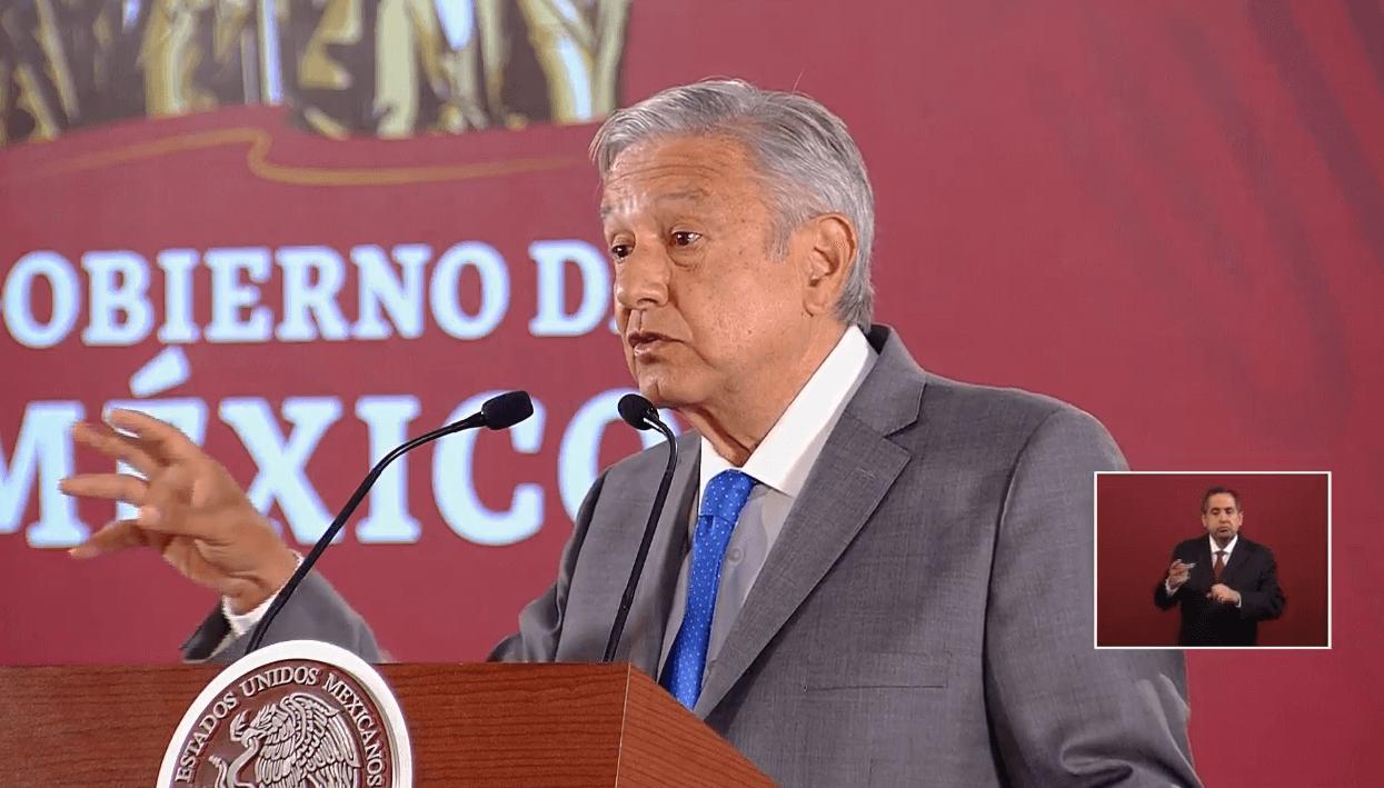 Foto: El presidente López Obrador en conferencia de prensa, desde Palacio Nacional, 9 de mayo de 2019, Ciudad de México