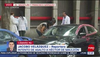 Foto: Escolta esperaba dentro del vehículo cuando vio agresión a De Mauleón