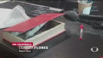 Foto: Estalla Libro Bomba Senadora Citlalli Hernández 29 Mayo 2019