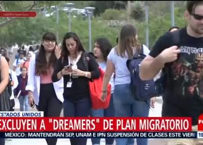 Excluyen a 'dreamers' de nuevo plan migratorio de Trump