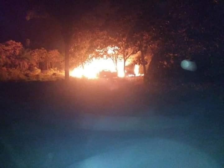FOTO Explosión de ducto se origina por toma clandestina, en Chiapas (Twitter 9 mayo 2019 chiapas)