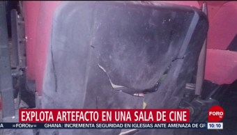 FOTO: Explota artefacto en sala de cine en CDMX; un lesionado, 26 MAYO 2019