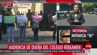 FOTO: Familiares de niños muertos en colegio Rebsamen protestan afuera del TSJ-CDMX, 12 MAYO 2019