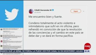 Foto: Artefacto Explosivo Libro Bomba Senado Citlalli Hernandez 29 Mayo 2019