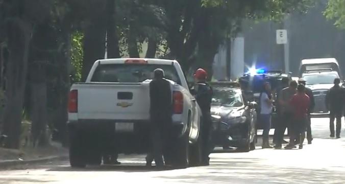 Foto: Policías de Ciudad de México acordonaron la zona del asesinato en Lomas de Virreyes. El 31 de mayo de 2019