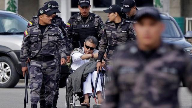 Foto: El excomandate de las FARC, Jesús Santrich, abandonan la prisión La Picota, minutos antes de ser recapturados en Bogotá, Colombia. El 17 de mayo d 2019