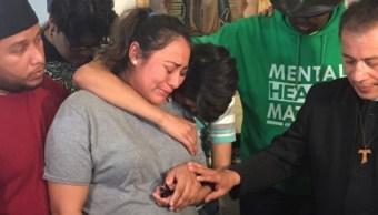 Foto: Adilene Marquina buscó refugio dentro de una iglesia en Chicago, EEUU. El 22 de mayo de 2019