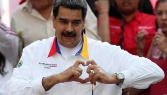 Foto: El presidente Nicolás Maduro forma un corazón con las manos durante un mitin en Caracas, Venezuela. El 20 de mayo de 2019