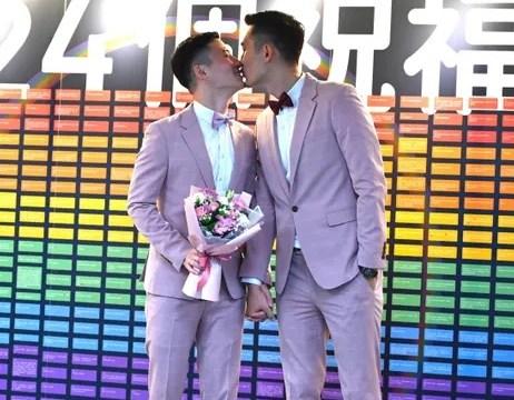 Foto: Shane Lin y Marc Yuan fueron la primera pareja gay en casarse en Taipéi, Taiwán. El 23 de mayo de 2019