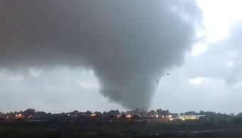 Foto: Tornado en Los Ángeles, en la región del Bío Bío, en Chile. El 30 de mayo de 2019