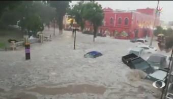 Foto: Lluvias Automovilistas Atrapados Matehuala Slp Inundaciones 30 Mayo 2019