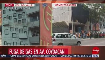 FOTO: Fuga de gas en alcaldía Benito Juárez