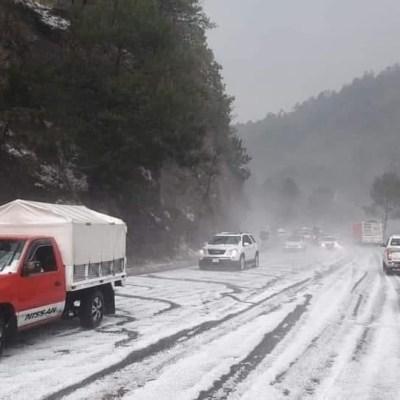 Se registra fuerte lluvia y granizada en Oaxaca y Chiapas
