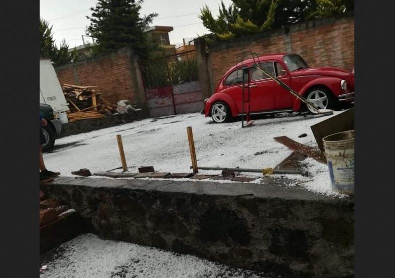 Foto: Granizada en Michoacán, 17 de mayo 2019. (Noticieros Televisa)