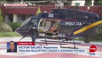 Herido de bala es trasladado en helicóptero al Hospital de Balbuena