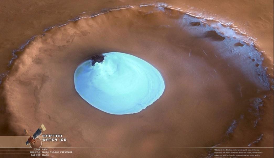 Foto: Descubren antiguas capas de hielo enterradas en la arena del polo norte de Marte, 22 mayo 2019
