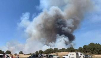 Fuerte incendio consume Sierra de La Catana, en Coahuila