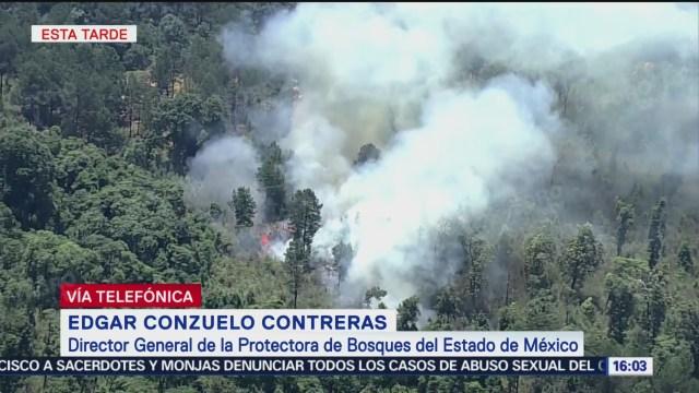 Foto: Incendios consume zona boscosa de Valle de Bravo