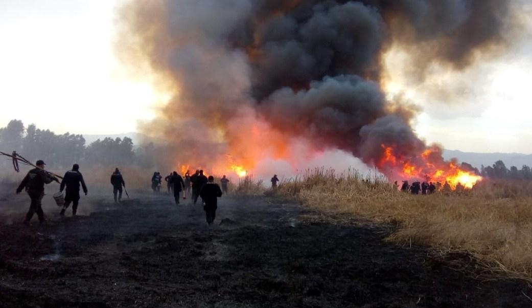 Foto: Elementos de la Secretaría del Medio Ambiente en CDMX atienden incendios forestales, mayo 11 de 2019 (Twitter: @SEDEMA_CDMX)