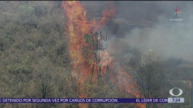Incendios forestales siguen activos en Valle de Bravo