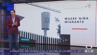 INM lamenta muerte de niña guatemalteca en Iztapalapa