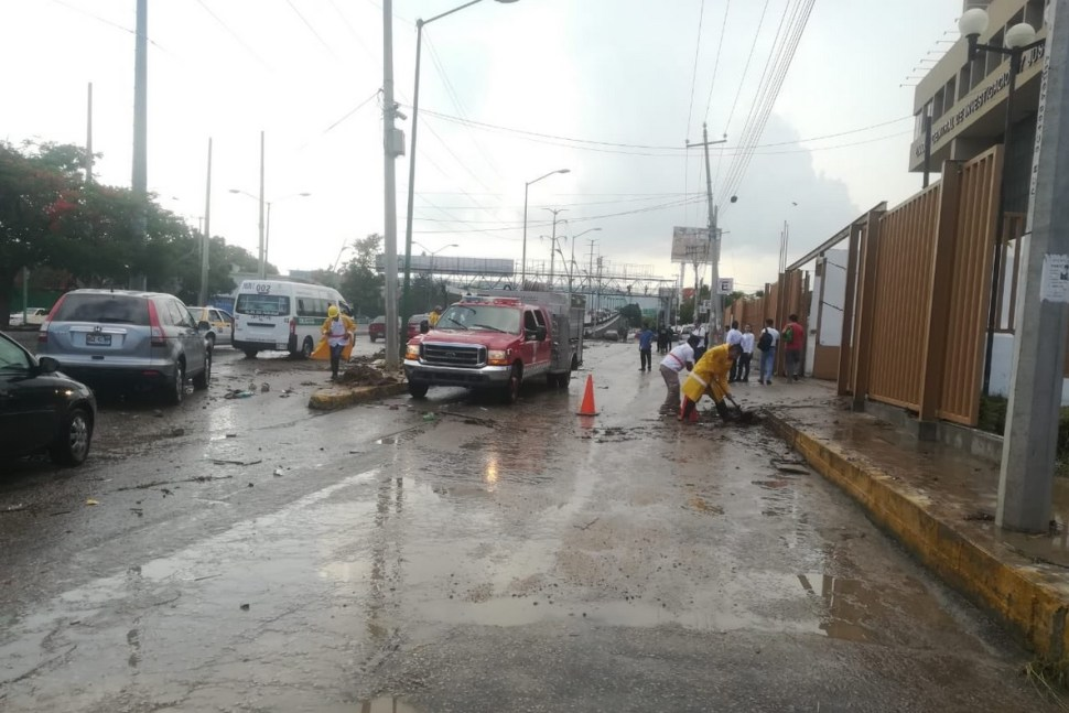 Foto: inundación en Tuxtla Gutiérrez, Chiapas, 27 de mayo 2019. Twitter @TuxtlaCapital