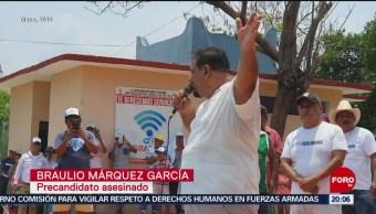 FOTO: Investigan asesinato del precandidato a la presidencia municipal de Santa María Colotepec, 25 MAYO 2019