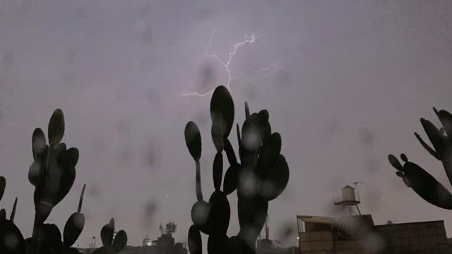 FOTO: Se registra lluvia con actividad eléctrica, 29 junio 2019
