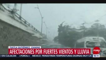 FOTO: Lluvia y ráfagas de vientos en Chiapas, 24 MAYO 2019