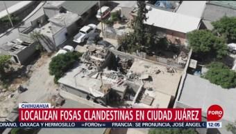 Localizan fosas clandestinas en Ciudad Juárez, Chihuahua