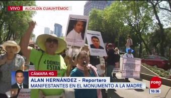 Madres con hijos desaparecidos marchan en la CDMX