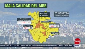 FOTO: Mala calidad del aire en el Valle de México este domingo, 12 MAYO 2019