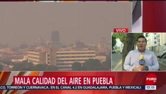 Foto: Mala calidad del aire en Puebla