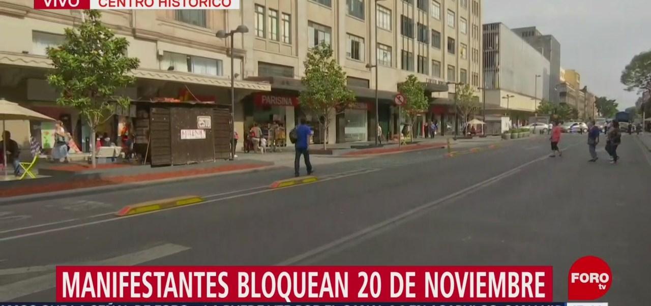 FOTO:Manifestantes bloquean avenida 20 de Noviembre, 27 MAYO 2019