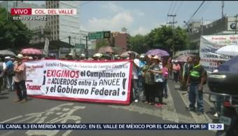 Manifestantes bloquean Avenida Insurgentes y eje 5, CDMX