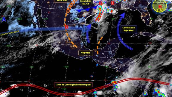 Foto: Imagen de fenómenos meteorológicos significativos de las 06:00 horas, 4 mayo 2019