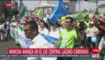 FOTO: Marcha a favor de la vida avanza sobre Eje Central, 18 MAYO 2019