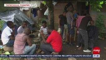 Foto: Haitianos Permanecen Tapachula Chiapas 15 de Mayo 2019