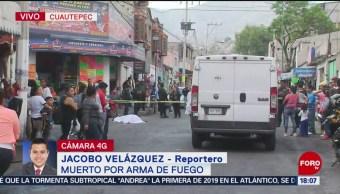 FOTO: Matan a disparos a un hombre en la Gustavo A. Madero