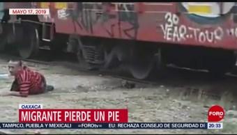 Foto: Migrante Pierde Pie Caer Bestia 20 Mayo 2019