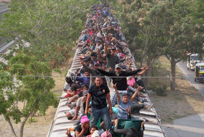 Foto: Migrantes a su paso por México, hacia Estados Unidos, mayo 2019