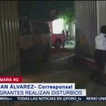 Foto: Migrantes haitianos y africanos realizan disturbios en Chiapas