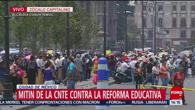 Foto: Mítines de la CNTE contra la Reforma Educativa