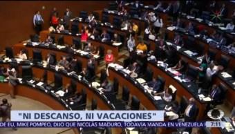 Monreal pide a senadores no ausentarse en periodo extraordinario de sesiones