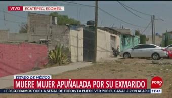 Muere mujer apuñalada por su exmarido en Ecatepec, Edomex