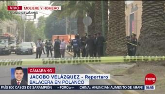 Foto: Muere una persona por balacera en Polanco entre Moliere y Homero