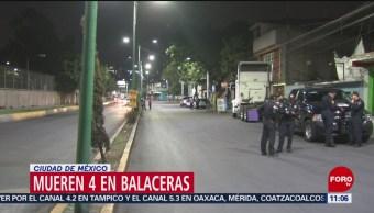 Mueren cuatro personas en balaceras de la Ciudad de México