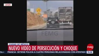 Foto: Video Persecución Choque Tráiler Santa Fe Cdmx 27 Mayo 2019