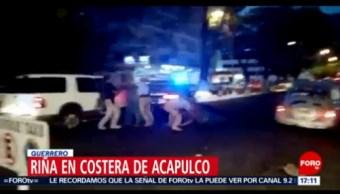 FOTO: Ocurre riña entre policías y dos hombres en Guerrero, 26 MAYO 2019